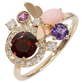 Chaumet 18K Pink Gold Attrape-moi Diamond Multi Stone Ring Size 10.75