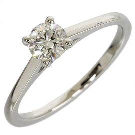 De Beers 950 Platinum Diamond Ring Size 6.25