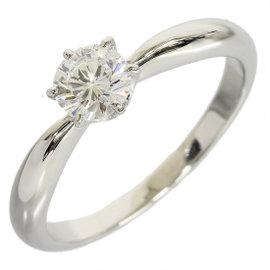 Mikinoto PT950 Platinum 0.43ct Diamond Solitaire Ring Size 5.5