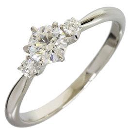 Mikimoto Platinum 0.40ct & 0.08ct Diamond Ring Size 6.5