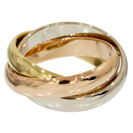 Cartier Trinity 18K Rose White & Yellow Gold 3 Bands Ring Size 6