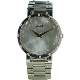 Piaget Dancer 18K White Gold Mother Of Pearl Diamond Dial Watch