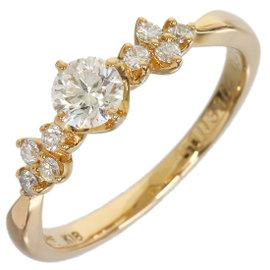 Vendome Aoyama 18k Rose Gold 0.35 Ct Diamond Band Ring Size 4.75
