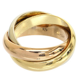 Cartier Trinity de 18K 3-Gold 3 Bands Ring 4.75
