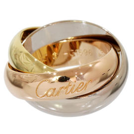 Cartier 18K 3-Gold 3 Bands Ring Size 4.75