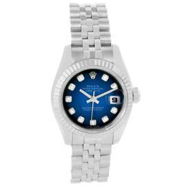 Rolex Datejust 179174 Steel White Gold Vignette Diamond Dial Watch