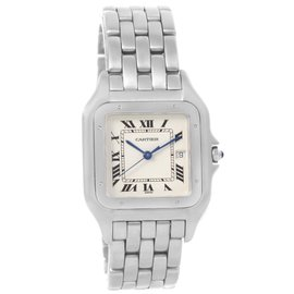 Cartier Panthere W25032P5 Jumbo Stainless Stainless Steel Date 29.0 mm Mens Watch
