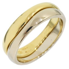Cartier Love Me 18K White & Yellow Gold Ring Size 5.25