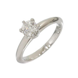 Tiffany & Co. Platinum 0.41 Ct Diamond Solitaire Ring Size 4