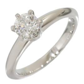 Tiffany & Co. Platinum 0.41 Ct Diamond Solitaire Ring Size 4