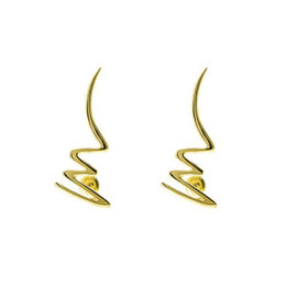 Tiffany & Co. 18K Yellow Gold Zig-zag Pin & Earring