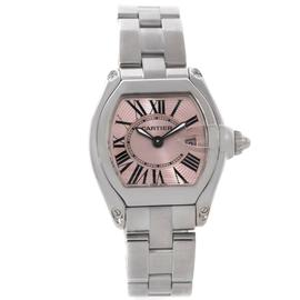 Cartier Roadster W62017V3 Stainless Steel Pink Dial 36mm x 30mm Watch