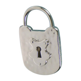 Tiffany & Co. Sterling Hammered Lock Pendant Padlock