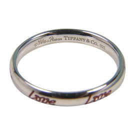 Tiffany & Co. 925 Sterling Silver Love Picasso Red Enamel Ring Size 6