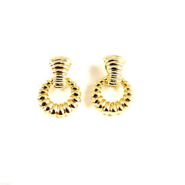 John Hardy 18K Yellow Gold Bedeg Door Knocker Earrings