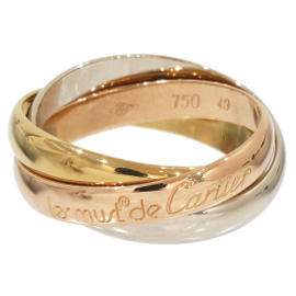 Cartier Trinity de 18K 3-Gold Bands Ring Size 5.5