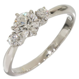 Mikimoto 950 Platinum 0.40ct & 0.07ct Diamond Band Ring Size 4.25
