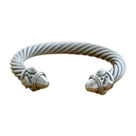 David Yurman Aluminum Renaissance Cable Cuff Bracelet