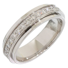 Piaget 18K White Gold Full Diamond Possession Ring Size 4.25