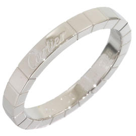 Cartier 18K White Gold Lanieres Wedding Band Ring Size 9.5