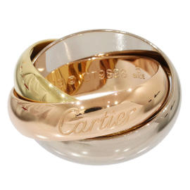 Cartier Trinity de 18K White Yellow Rose Gold Ring Band Size 5.25