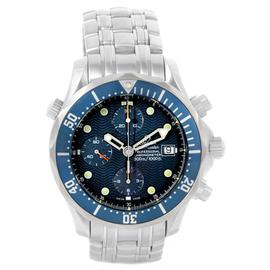 Omega Seamaster 2599.80.00 Stainless Steel Chronograph Blue Dial 41.5mm Mens Watch