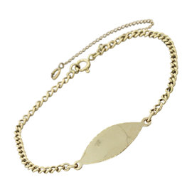 Tiffany & Co. 14K Yellow Gold Vintage Name Plate ID Chain Bracelet