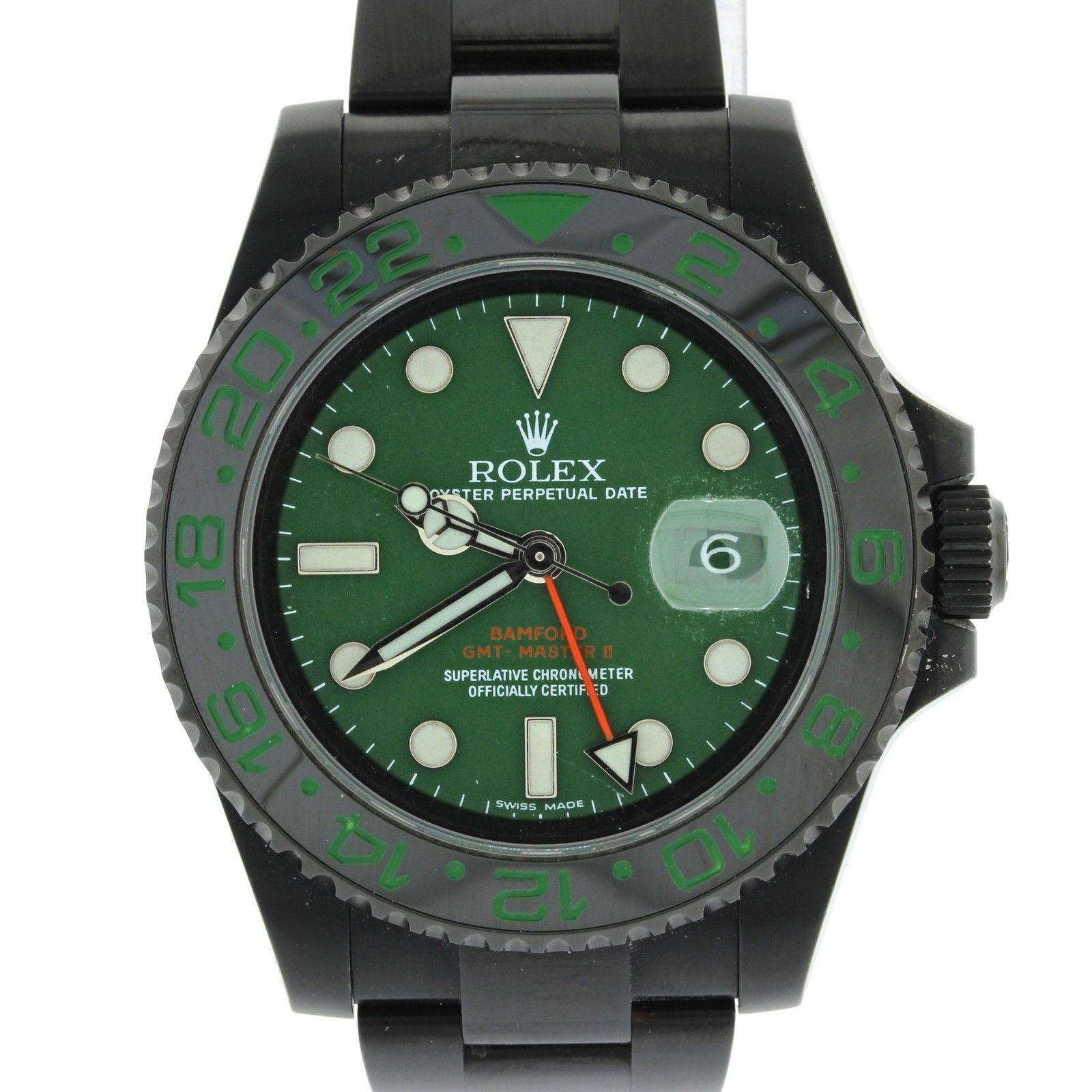 "Image of ""Rolex GMT Master II 116710 Black PVD Stainless Steel Green Dial 40mm"""