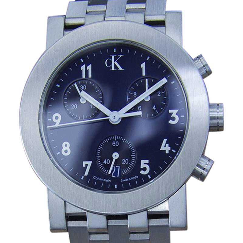 "Image of ""Calvin Klein Stainless Steel Blue Dial Quartz 33mm Mens Watch c2000"""