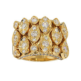 Cartier 18K Yellow Gold Diadea Diamonds Ring Size 7.5