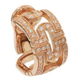 Bulgari 18K Rose Gold Diamonds Open Parentesi Clip Earrings