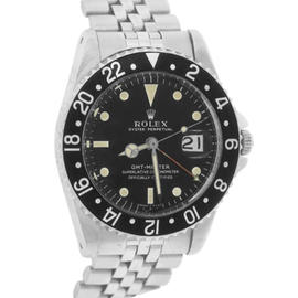 Rolex GMT-Master 1675 Black Pointed Crown Guards Cornino Jubilee 40mm Rare Mens Watch 1961
