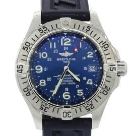 Breitling SuperOcean Chronometre A17360 Stainless Steel Blue Rubber 42mm Mens Watch