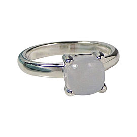 Tiffany & Co. Paloma Picasso Sterling Silver Blue Chalcedony Ring Silver Size 4