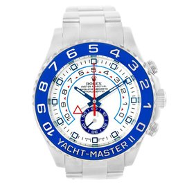 Rolex Yachtmaster II 116680 Stainless Steel Blue Bezel 44mm Watch