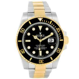 Rolex Submariner 116613 Stainless Steel & 18K Yellow Gold Black Dial 40mm Mens Watch