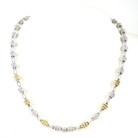 Judith Ripka Two Sterling Silver 18K Yellow Gold 17