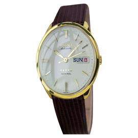 Longines Admiral 10K Gold / Leather 35mm Mens Watch