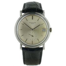 Patek Philippe Calatrave 3445 18K White Gold Automatic Mens Watch