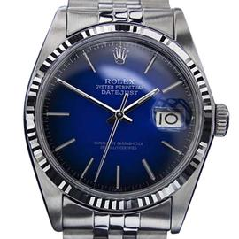 Rolex Oyster Datejust Stainless Steel / Leather Vintage 36mm Mens Watch