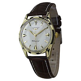 Longines Gold / Leather Manual Vintage 33mm Mens Watch