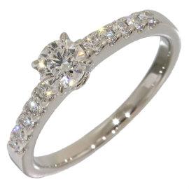 Mikimoto 950 Platinum 0.25ct & 0.12ct Diamonds Ring Size 4.5