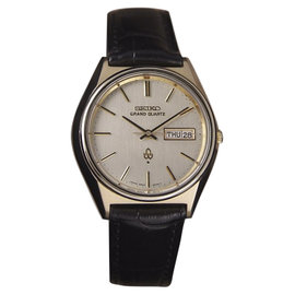 Seiko Grand Gold Capped Quartz 37mm Mens Watch 1980s