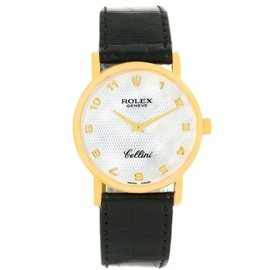 Rolex Cellini 5115 18K Yellow Gold Hand-Winding 31.8mm Mens Watch
