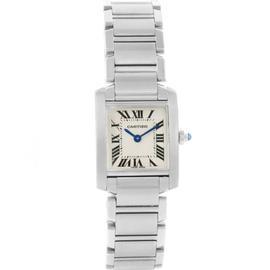 Cartier Tank Francaise W51008Q3 Stainless Steel Quartz 25mm Womens Watch