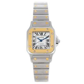Cartier Santos W20057C4 Stainless Steel and 18K Yellow Gold 24mm Womens Watch