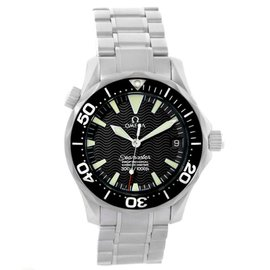 Omega Seamaster 2252.50.00 Stainless Steel & Black Wave Dial 36.25mm Mens Watch