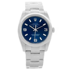 Rolex Air King 114200BLASO Stainless Steel & Blue Dial Automatic 34mm Mens Watch
