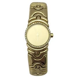 Bulgari Parentesi 18K Yellow Gold wDiamonds Quartz 21mm Womens Watch