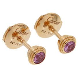 Cartier Legers de 18K Rose Gold Pink Sapphire Earrings